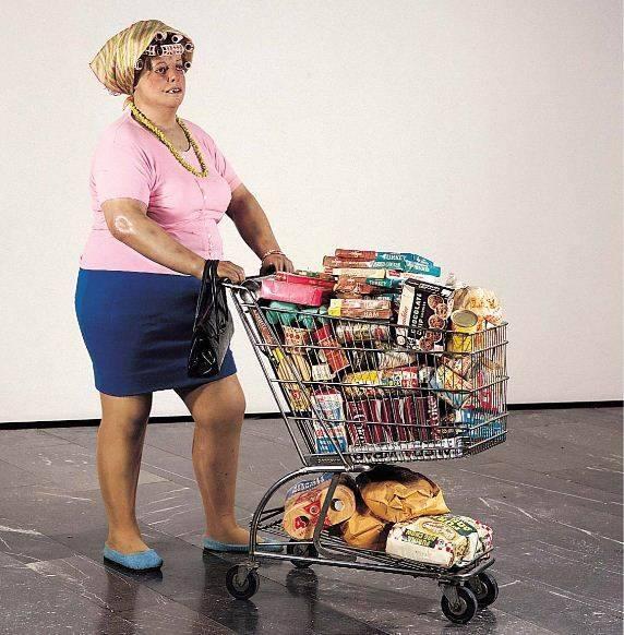 Duane Hanson , Supermarket Lady .
