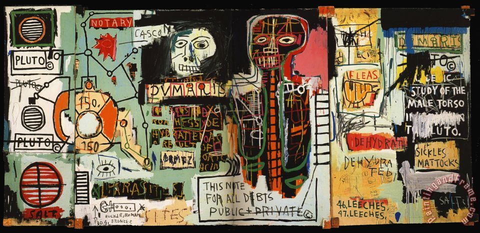 Notary Painting by Jean-michel Basquiat; Notary Art Print for sale