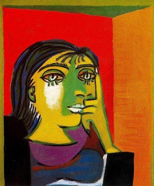 Picasso-Portrait of Dora Maar, 1937