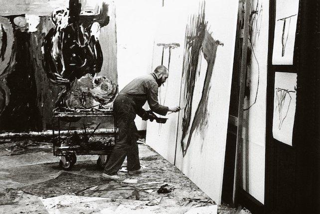 Baselitz atelier 1983