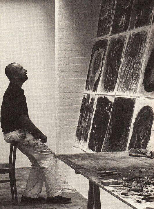 Georg Baselitz, atelier 1983_